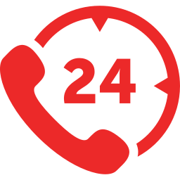 24 hours phone service icon