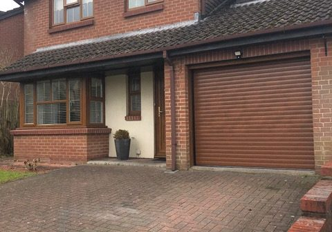 Domestic brown roller shutters